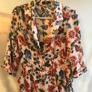 Missguided floral blazer style romper